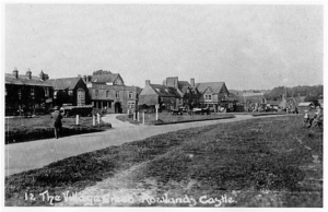 Castle Village Green c 1920, before it was consolidated from its original segments into the wide, uninterrupted expanse familiar today.